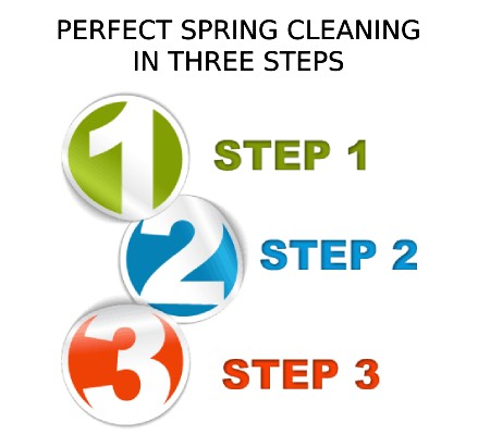 Perfect spring cleaning in three steps